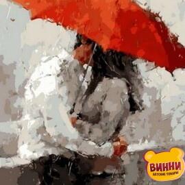 Купить картину по номерам Mariposa Красный зонт, 40*50 см Q1384