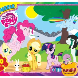 "Пазлы серии ""My little PONY"" 70 эл. (полотно 210*300мм) в кор. 19х13х3см GToys, MLP002"