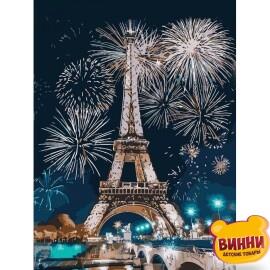 Купить картину по номерам Идейка Огни Парижа, 30*40 см KHO3572