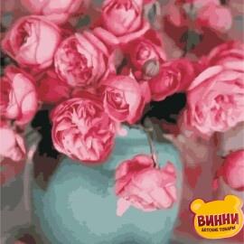 Купить картину по номерам ArtStory AS0332 Розы в вазе