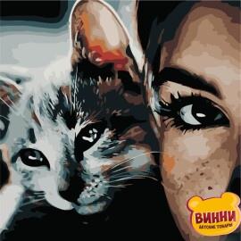 Купить картину по номерам ArtStory AS0505 Кошачий взгляд
