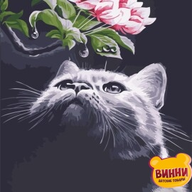 Купить картину по номерам ArtStory AS0551 Кот и магнолия