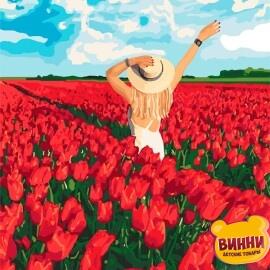 Купить картину по номерам Идейка В плену цветов, 40*50 см KHO4721
