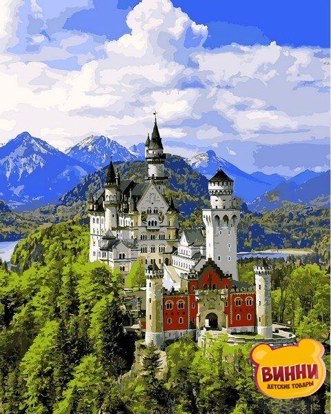 Купить картину по номерам Babylon Вид на замок Нойшванштайн, 40*50 см VP1095