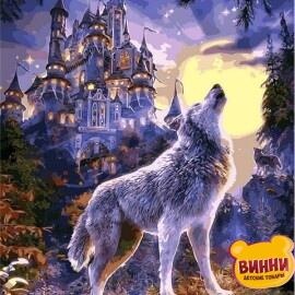 Купить картину по номерам Babylon Волчья луна, 40*50 см VP1121