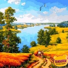 Купить картину по номерам Mariposa Дорога среди полей, 40*50 см Q2180