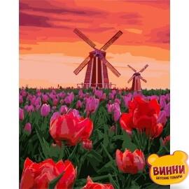 Купить картину по номерам Идейка Тюльпаны на закате, 40*50 см KHO2275