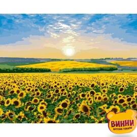 Купить картину по номерам Идейка Подсолнуховый рай, 40*50 см KHO2282