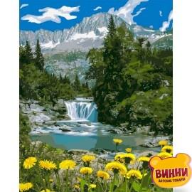 Купить картину по номерам Идейка Горный водопад, 40*50 см KHO2283