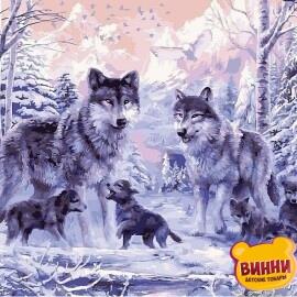 Купить картину по номерам Babylon Волчье семейство, 40*50 см VP466