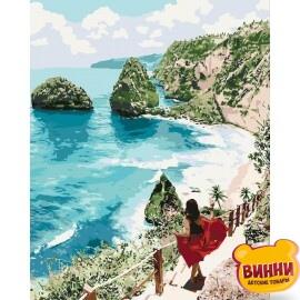 Купить картину по номерам Идейка Бриллиантовый пляж, 40*50 см KHO4734