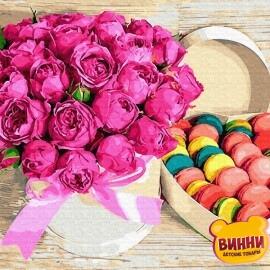 Купить картину по номерам RainbowArt Цветы и сладости, 40*50 см, GX28615