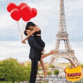 Купить картину по номерам RainbowArt Романтика с шариками, 40*50 см, GX34599