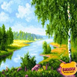 Купить картину по номерам RainbowArt Березки у реки, 40*50 см, GX22577