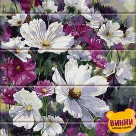 Купить роспись по номерам, картину на дереве ArtStory Садовые цветы, космеи 30*40 см, ASW010
