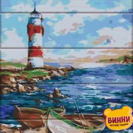Купить роспись по номерам, картину на дереве ArtStory Маяк 30*40 см, ASW039