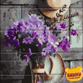 Купить роспись по номерам, картину на дереве ArtStory Деревенский букет 30*40 см, ASW049