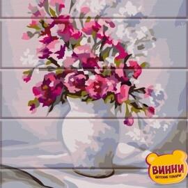 Купить роспись по номерам, картину на дереве ArtStory Весенние цветы 30*40 см, ASW079