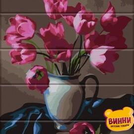 Купить роспись по номерам, картину на дереве ArtStory Прекрасные тюльпаны 30*40 см, ASW083