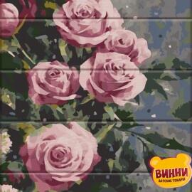 Купить роспись по номерам, картину на дереве ArtStory Дымчатые розы 30*40 см, ASW086