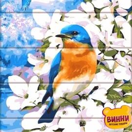 Купить роспись по номерам, картину на дереве ArtStory Яркая птица 30*40 см, ASW101