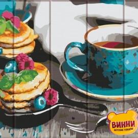 Купить роспись по номерам, картину на дереве ArtStory Вкусный чай 30*40 см, ASW105