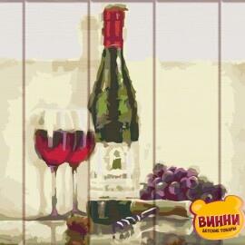Купить роспись по номерам, картину по номерам на дереве ArtStory Вино для двоих 30*40 см, ASW116