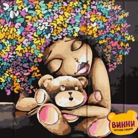 Купить роспись по номерам, картину по номерам на дереве ArtStory Экзотическая девушка 30*40 см, ASW121