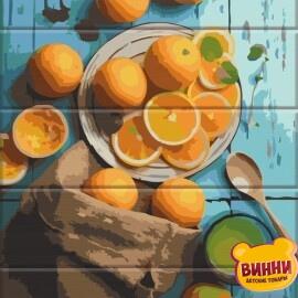 Купить роспись по номерам, картину по номерам на дереве ArtStory Апельсины 30*40 см, ASW119
