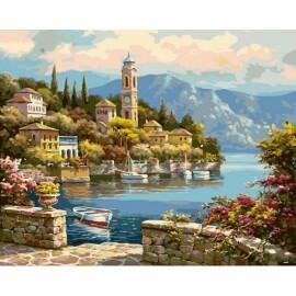 Купить картину по номерам Babylon Часовая башня, 40*50 см VP018