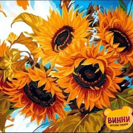 Купить картину по номерам Babylon Солнечный букет, 30*40 см VK079
