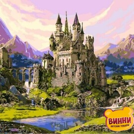 Купить картину по номерам Babylon Замок из сказки, 40*50 см VP1123
