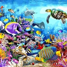 Купить картину по номерам Babylon Черепаховый рай, 40*50 см VP1197