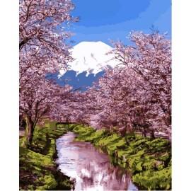 Купить картину по номерам Mariposa Цветущая сакура, 40*50 см, Q2195