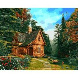 Купить картину по номерам Mariposa Домик на опушке леса, 40*50 см, Q2205