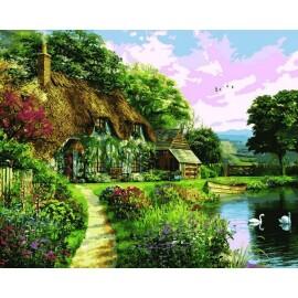 Купить картину по номерам Mariposa Тихая заводь, 40*50 см, Q2206