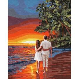 Купить картину по номерам Идейка Романтика на побережье, 40*50 см KHO4741
