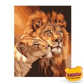 Купить картину по номерам Dreamtoys Величественный взгляд, львы 40*50 см, DT561