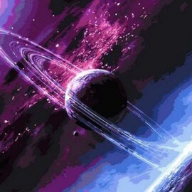 Купить картину по номерам Babylon Сквозь вселенную, 50*65 см QS792