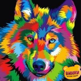 Купить картину по номерам Babylon Радужный волк, 40*50 см VP988