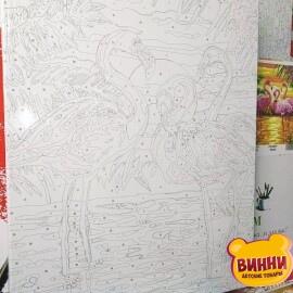 Купить картину по номерам Babylon Фламинго на закате, 30*40 см VK188