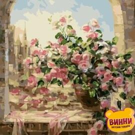 Купить картину по номерам Цветы у окна, 40*50 см, VA-0030