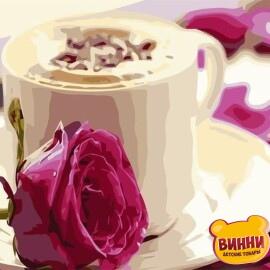 Купить картину по номерам Утренний кофе, 40*50 см, VA-0228