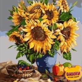 Купить картину по номерам Букет подсолнухов, 40*50 см, VA-0326