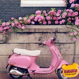 Купить картину по номерам Розовый скутер, 40*50 см, VA-0863