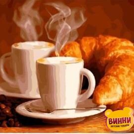 Купить картину по номерам Кофе и круасаны, 40*50 см, VA-0909