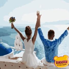 Купить картину по номерам Свадьба на Санторини, 40*50 см, VA-1090