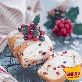 Купить картину по номерам Рождественский кекс, 40*50 см, VA-1120