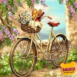 Купить картину по номерам Велосипед в саду, 40*50 см, VA-1286