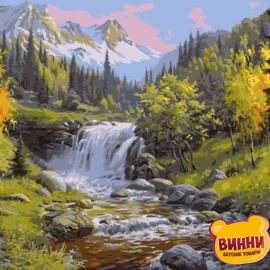 Купить картину по номерам Лесной водопад, 40*50 см, VA-1510